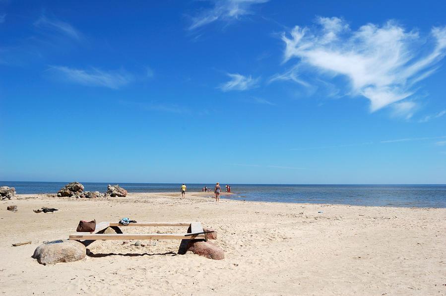 Здесь встречаются Балтийское море и Рижский залив