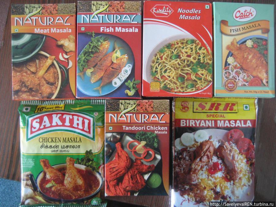 Приправы для разных блюд — курицы, мяса, рыбы, плова, спагетти...