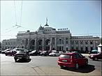 Одесский вокзал. Он идеально вписывается в стиль центра города... а красив он и снаружи, и внутри.