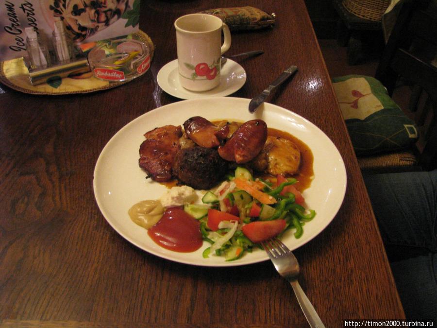 3 вида мяса с овощами на гриле