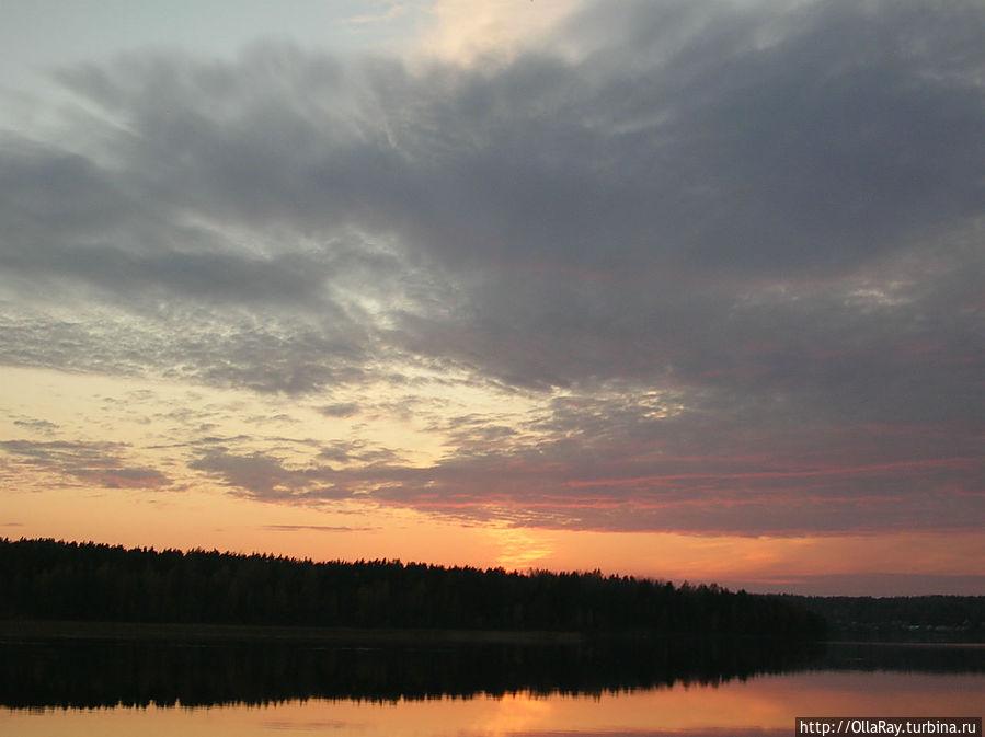 Закат на Кончезере. Вид из