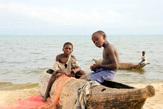 Все лодки местных рыбаков выдолблены из цельного ствола дерева