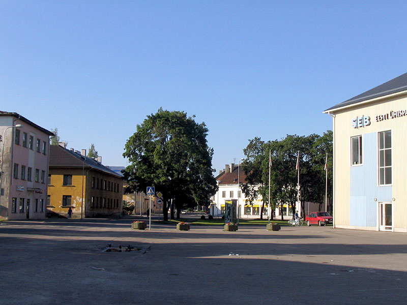 На центральной площади Тапа, Эстония