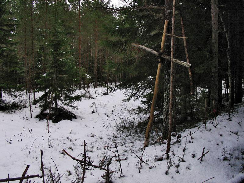 Гора крестов зимой