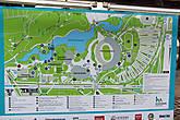 около метро схема всего парка, куда мы направлялись Мюнхен, Германия.