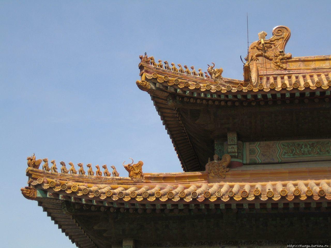 Пекин. Гугун. Конек крыши