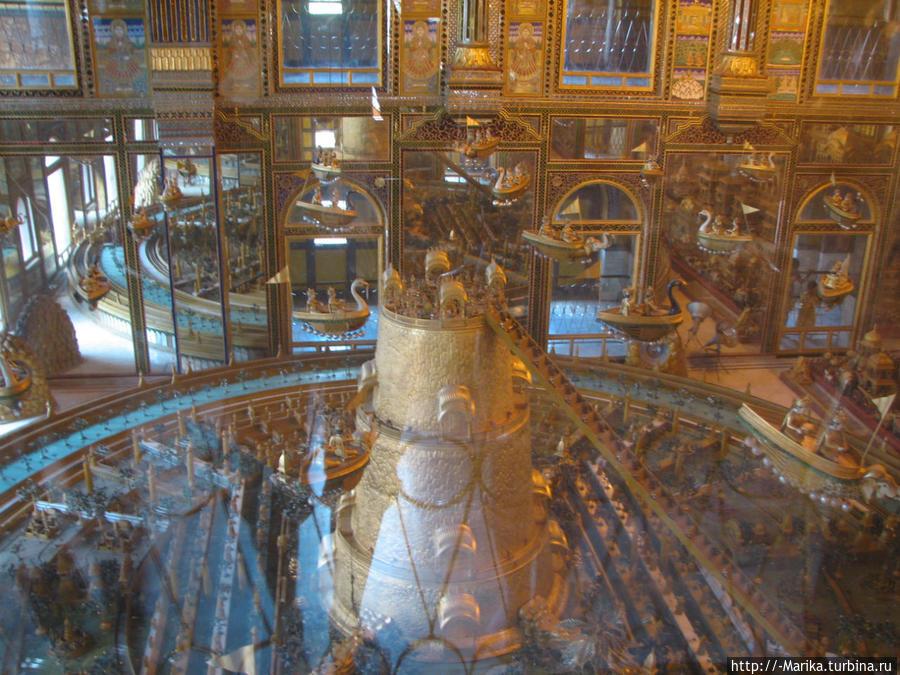 Модель джайнистского мира, музей при храме джайнов, Аджмер, Раджастан, Индия Пушкар, Индия