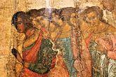 Фрагмент древней иконы. Новгородский музей