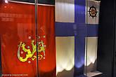 Когда в 1917-м году встал вопрос о самостоятельности Финляндии как отдельного государства, тут же возник вопрос о национальном флаге. Здесь представлены варианты, между которыми развернулись главные споры... Победил флаг (близкий Андреевскому) с синим (водным) крестом.