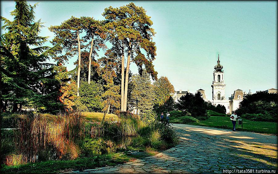 Затем прогулялись вокруг усадьбы, где разбит красивый английский парк. Кестхей, Венгрия
