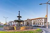 Центральная площадь Понта-Делгада на закате.
