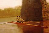 Томас Икинс. Байдарка-двойка.  Река Шуйлкилл в Филадельфии располагает к занятиям греблей. Чем Икинс, собственно, и занимался. Заодно он делал и зарисовки.