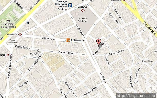 Чтобы сориентироваться, хотя на сайте http://www.bocatta.com/movie.html есть схемы расположения всех кафе сети
