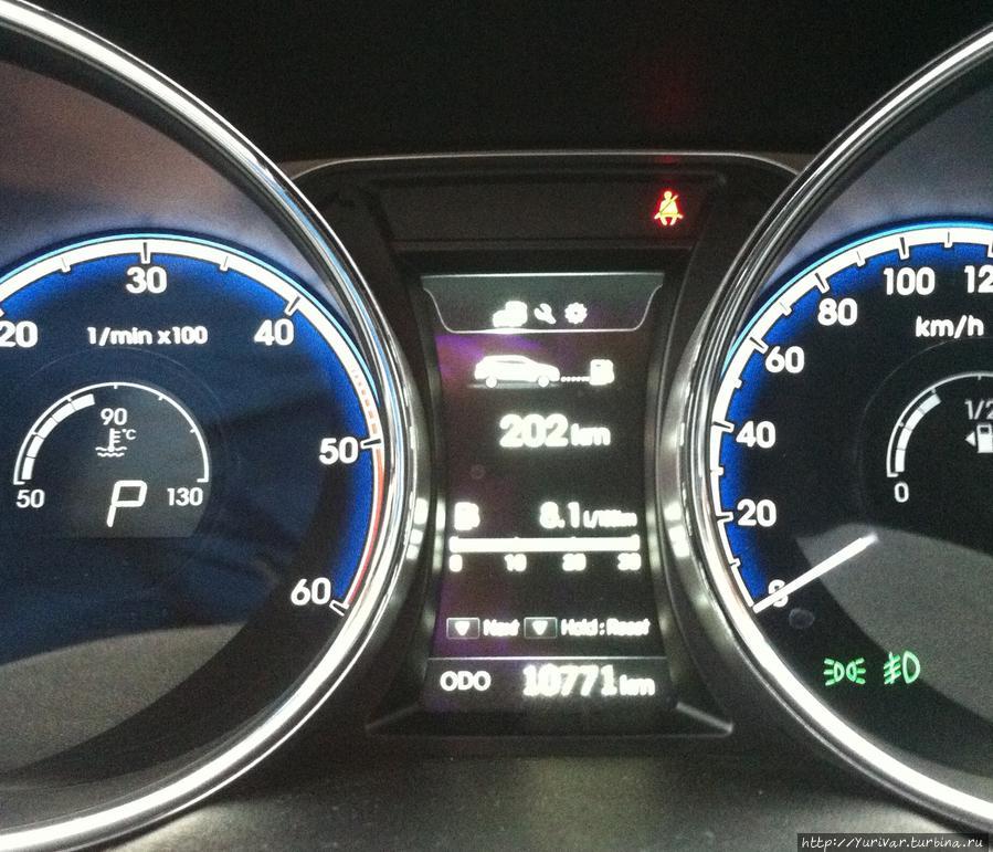 Перед получением автомашины лучше сделать фотографию параметров спидометра — километраж и количество остатка бензина