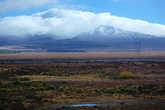 Вулкан Руапеху в облаках