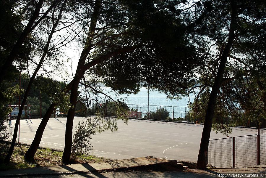 Футбольное поле на территории комплекса