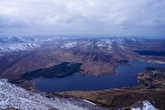 Вид вниз на озеро Алтан (Altan), это название знакомо любителям ирландской фолк-музыки, ибо есть известная группа, взявшая имя этого озера.