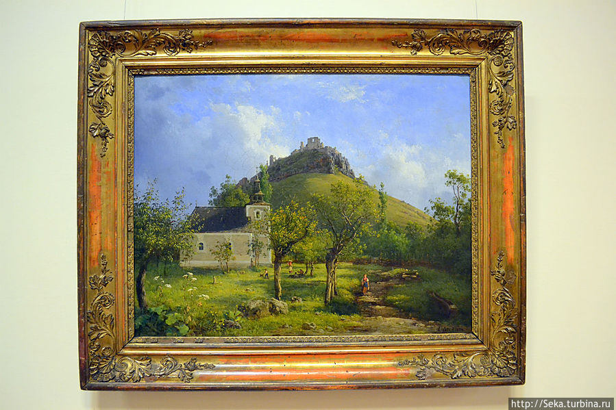 Антал Лигети. Пейзаж, 1854.