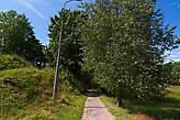 Справа — заросшая Гдовка, слева остатки крепости — Шайкина гора