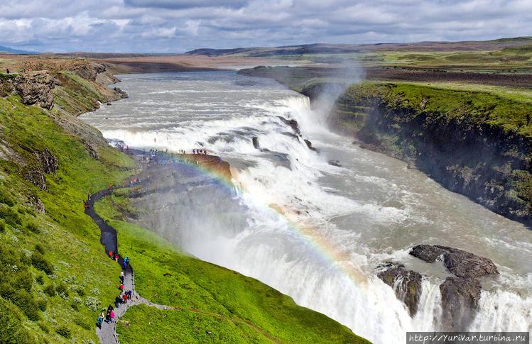 А вот так выглядит водопа