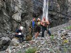 Мидаграбинские водопады. Геологи