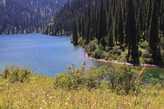 Второе озеро Кольсай- вид сверху.