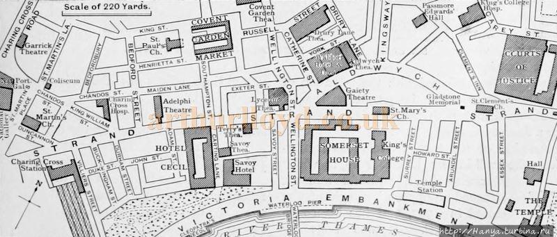 Схема Стрэнда 1909 года.