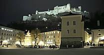 Ночной Зальцбург.