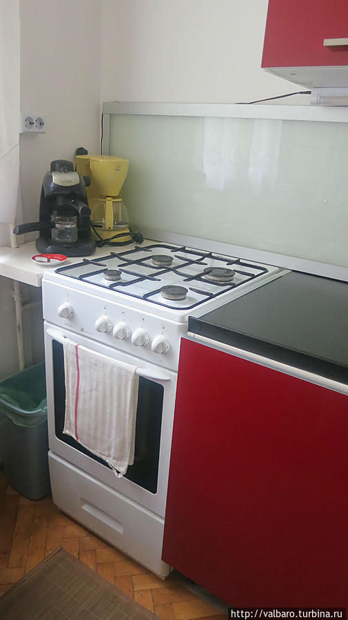 Та самая плита. Мы пользовались только левой передней горелкой.