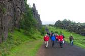 В ущелье Almannagjá (Всеобщее Ущелье) и проходили собрания древних исландцев