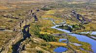 Разлом земной коры между Евразийской и Американской геологическими плитами. Из интернета