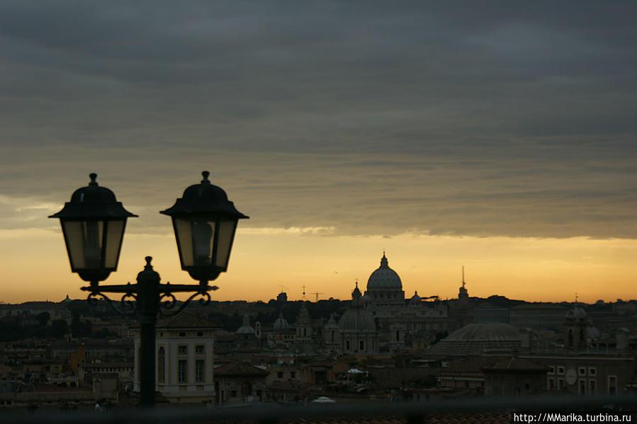 Вид с террасы на город