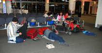 Релакс в ожидании самолета в аэропорту Крайсчерч