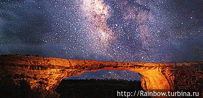 Млечный путь на ночном небе над мостом Овачомо. Фотография взята с официального сайта парка.