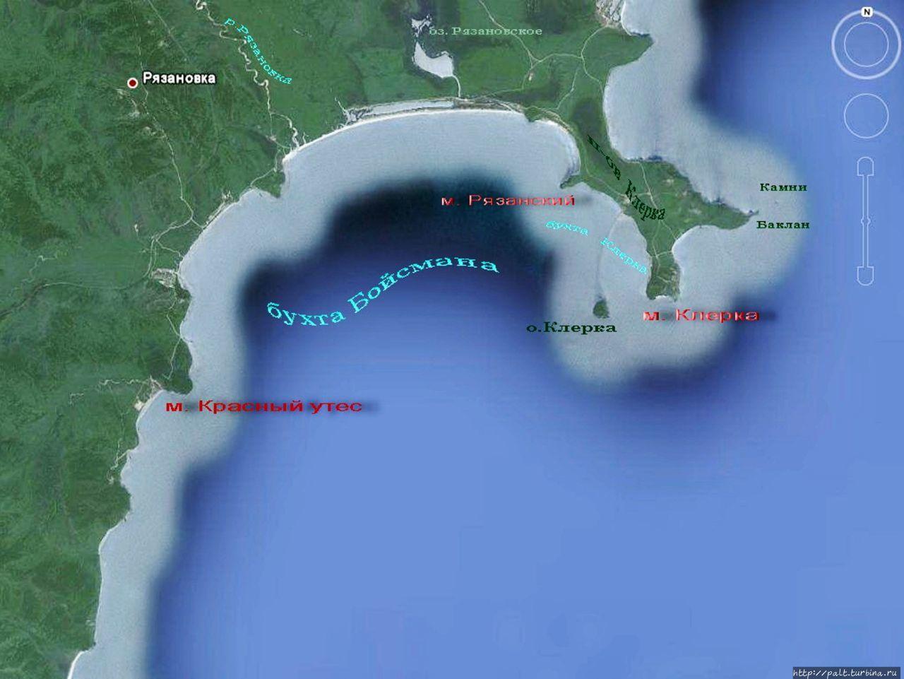 Карта бухты Бойсмана