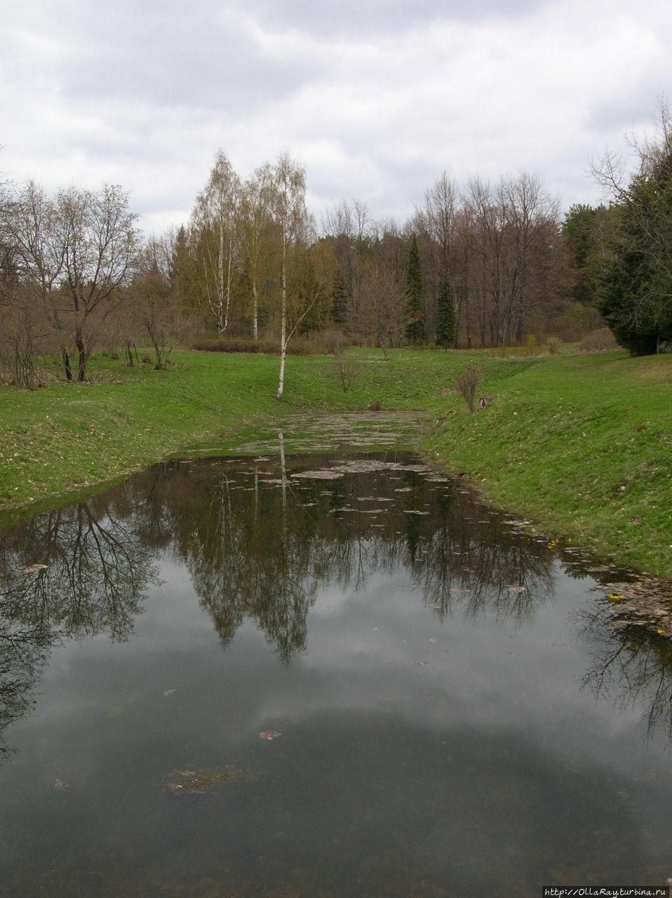 Пруд на территории парка