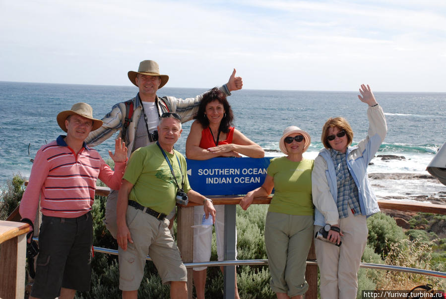 Здесь встречаются два океана — Индийский и Южный Маргарет-Ривер, Австралия