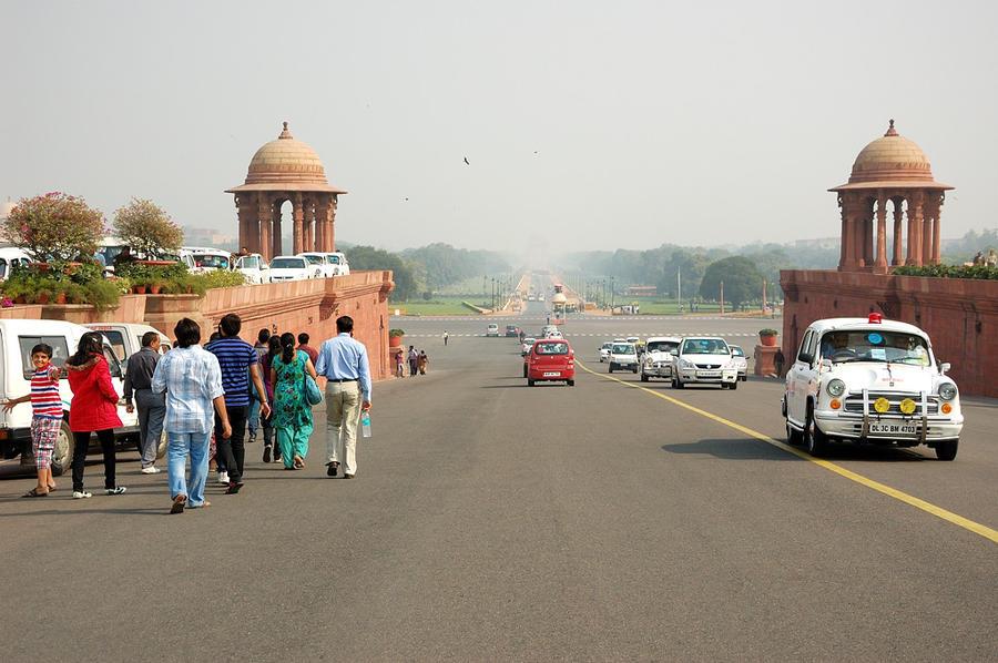 Вид от Секретариата на проспект Раджпат