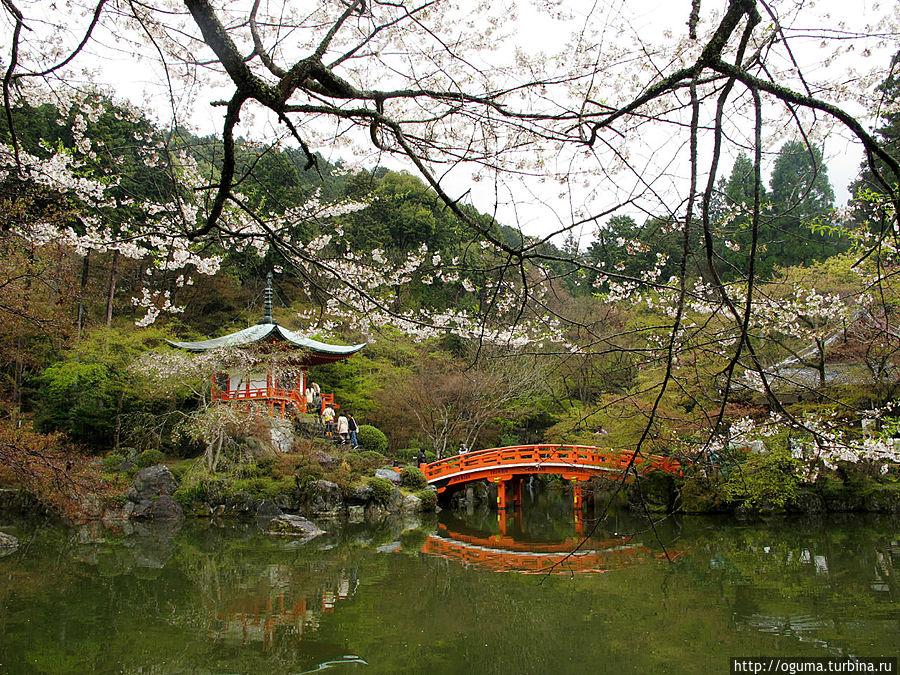один из элементов сада Киото, Япония