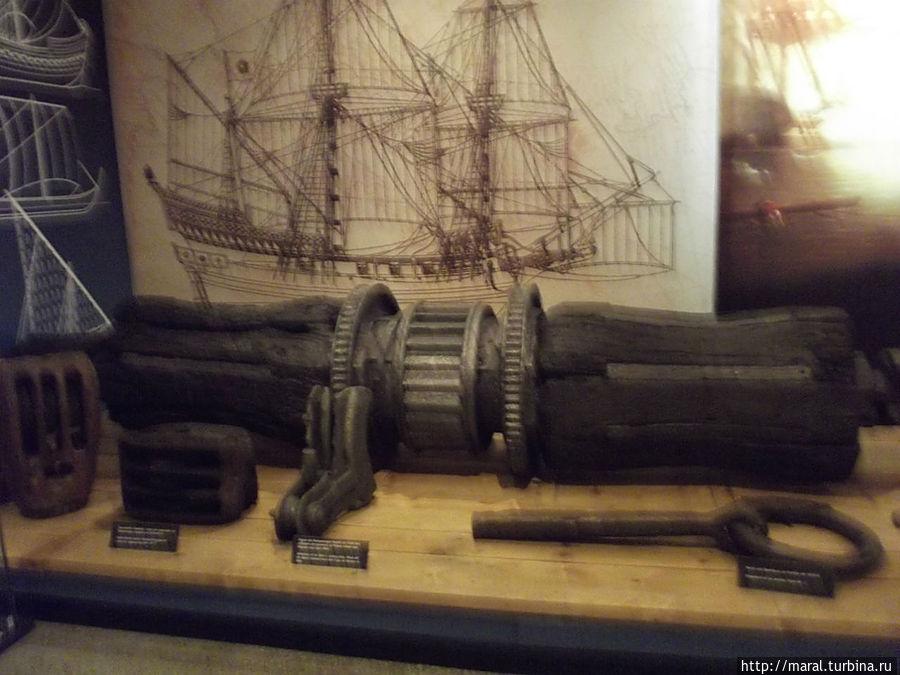 Фрагмент древнего корабля