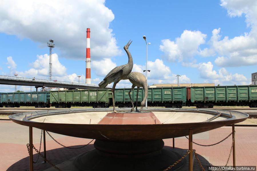 Фонтан на вокзале Полоцка Полоцк, Беларусь