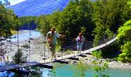 Переход к Голубым лагунам реки Макарора