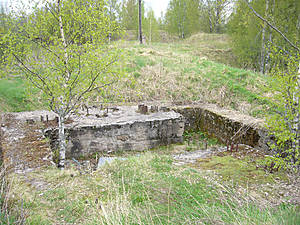 Место установки артиллерийского орудия