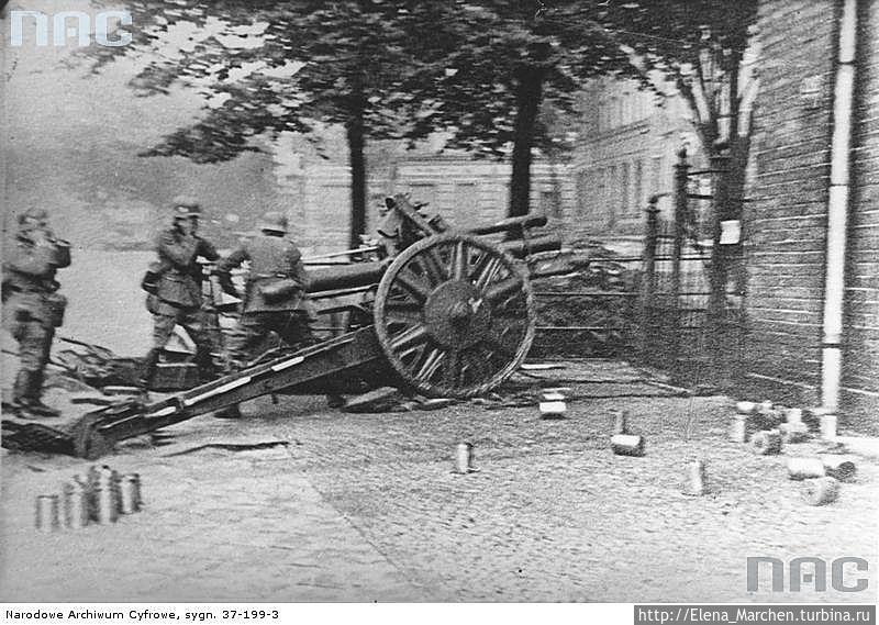 Атака немцев на польское почтово-телеграфное отделение