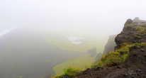 В тумане мыс Дирхолей кажется очень загадочным