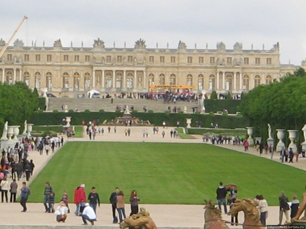 Вид на дворец Версаль