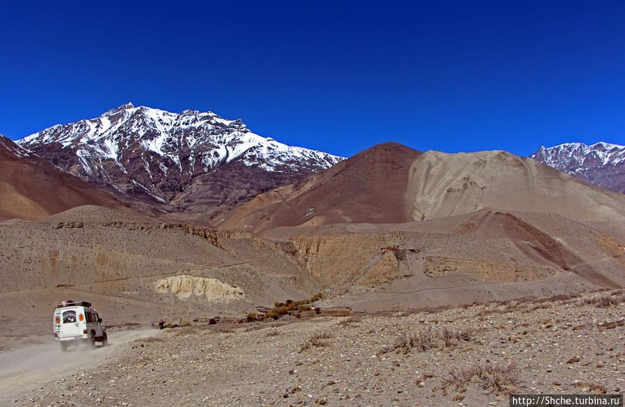 Здесь уже не ходят рейсовые автобусы, но до Чусанга можно зафрахтовать джип Тангбе, Непал