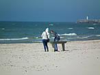 Здесь, в отличие от Юрмалы, намного чаще (почти постоянно) ветренно, так как это открытое море, а не залив.