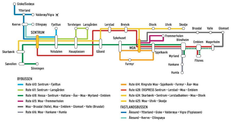 Карта городских маршрутов.