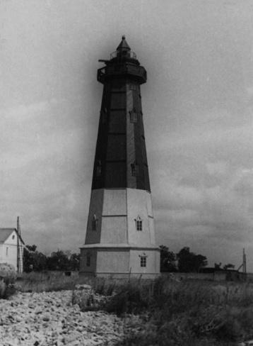 Временный деревянный маяк, 1955-й год
